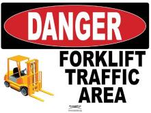Danger forklift